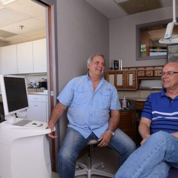 Dr. Surratt and patient talking