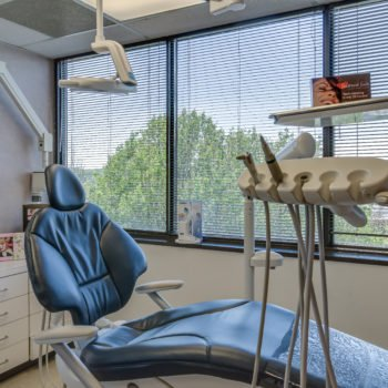 Operating room showing dental equipment and chair