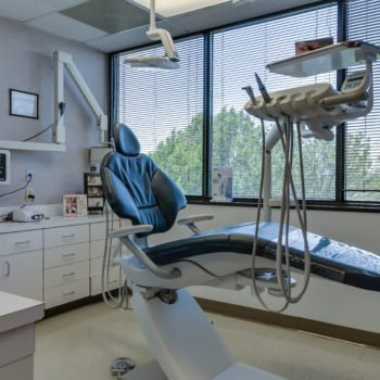 Operating room showing dental equipment and dental chair
